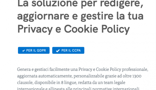 Con Iubenda adegui il tuo sito a Privacy e Cookie Policy