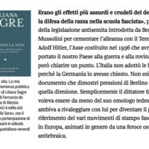 Libri gratis: 'Ho scelto la vita' di Liliana Segre