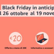 Amazon ha spalmato il Black Friday dal 26 ottobre fino al 27 novembre