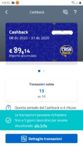 Cashback di stato dicembre 2020