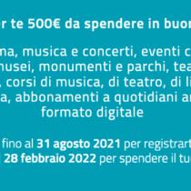 Se sei del 2002 c'è il bonus cultura da 500 euro