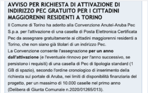 Casella Pec Torino