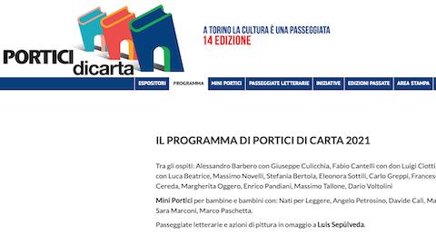 Torino: Portici di Carta il 24 giugno edizione 2021