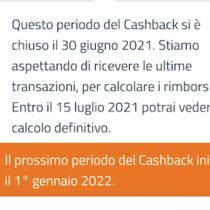Supercashback: vincitori entro il 15 luglio e rinvio al 2022